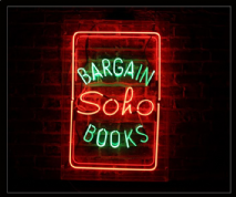 Bargain Soho Books Neon Sign